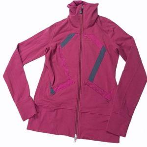 Origami Stride Jacket In Hydrangea Raspberry Pink